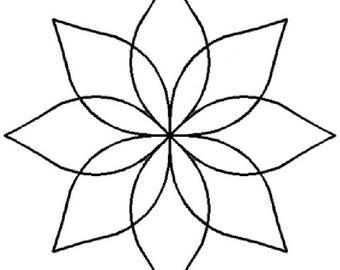 """4"""" Continuous Flower - BJ36"""