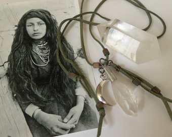 Moon Wise Woman ~ Crystal Pendant Necklace