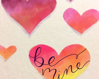 Be Mine - Heart Digital Printable