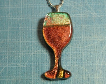 Sparkling Wine Glass Necklace
