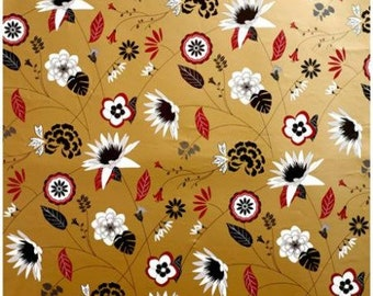 Metallic Floral Bloom Gift Wrap (6 Sheets)