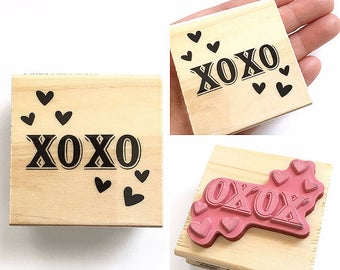 XOXO - Rubber Stamp - Love Letter, Wedding Favors, Shipping, Etsy Shop, Logo, Branding, Packaging, Invitations, Party, Favors, Wedding Gifts