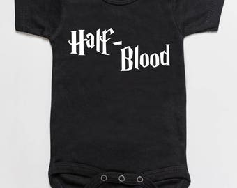 Half blood baby bodysuit romper black