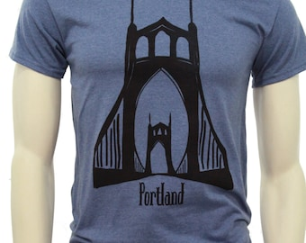 Tall sizes | St. Johns Bridge Portland | Men's classic T Shirt | up to 3XL