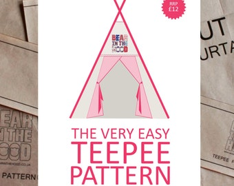 The Very Easy Teepee Pattern, sew your own teepee paper pattern.