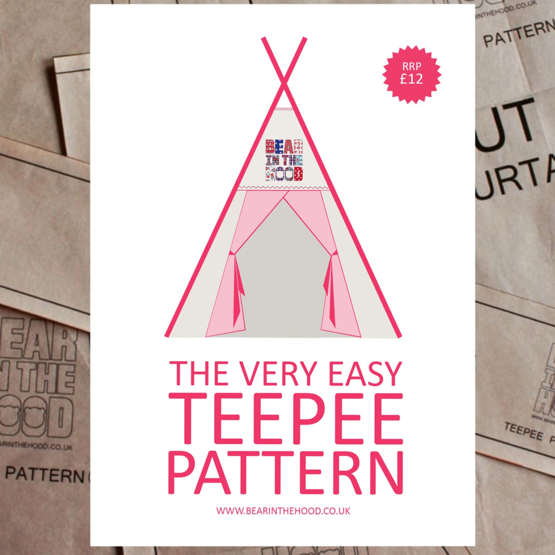 Das sehr einfach Tipi Muster Ihr eigenes Tipi-Papier-Muster