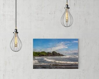 Beach Waves Art, Ocean Waves Print, Ocean Waves, Beach Print, Beach Canvas, Photography Print, Extra Large Wall Art, Huge Canvas Art