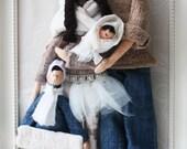 Portrait personnalisé de poupée Tilda, hiver douillet, Handmade Royaume par Valeria Olsson