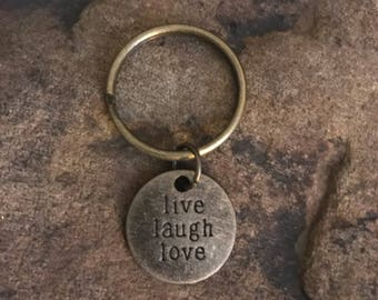 Live Laugh Love Keychain Gifts Under 5