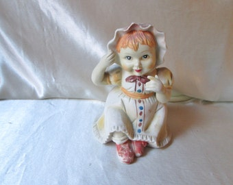1940s American Ceramic Baby Doll Figurine, Thank You Gift, Mothers Day Gift, Collectible, Friendship Gift,