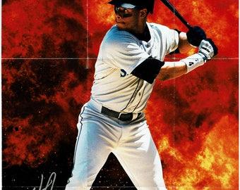 """1993 Kelloggs Ken Griffey Jr. """"Kid Dynamite"""" Poster"""