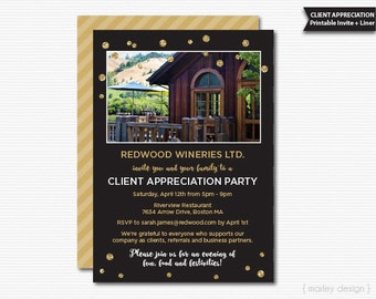 Client Appreciation Invitation Office Party Invitation Printable Digital Client Party Staff Party Company Invitation Corporate Invitation