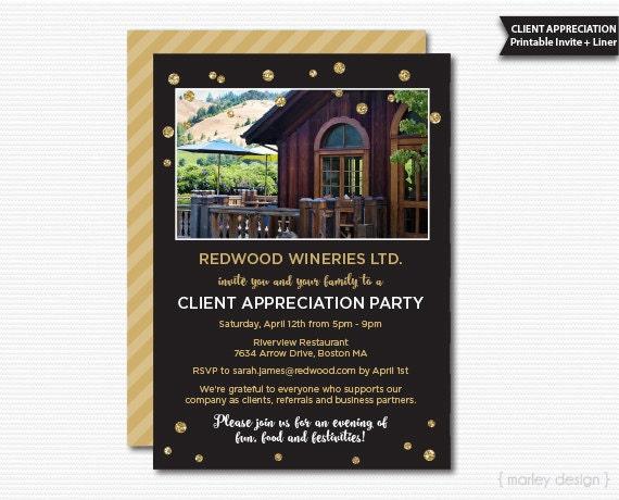 client appreciation invitation office party invitation