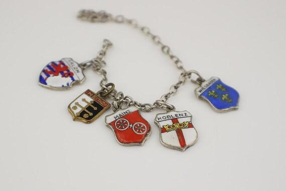 3 German Karo 800 Silver Shield Charms Wiesbaden Koblenz and Mainz