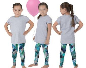 Mermaid Scale Pants, Fish Scale Leggings, Mermaid Outfit, The Little Mermaid, Ariel Leggings, Girls Mermaid Pants, Mermaid Birthday