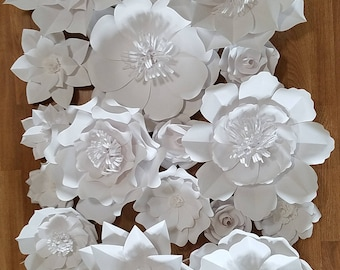 18-Paper flowers-wedding, baby shower, bridal shower backdrop