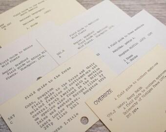 Vintage Plant Field Guldes Card Catalog Library Naturalist Gardner Ferns Medicinal Gift Tag