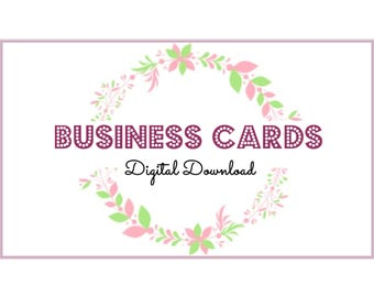 Business Cards, Temporary Business Cards Fast, Download Template, Digital Download, Print your own Business Cards