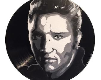 Elvis Presley Vinyl Painting