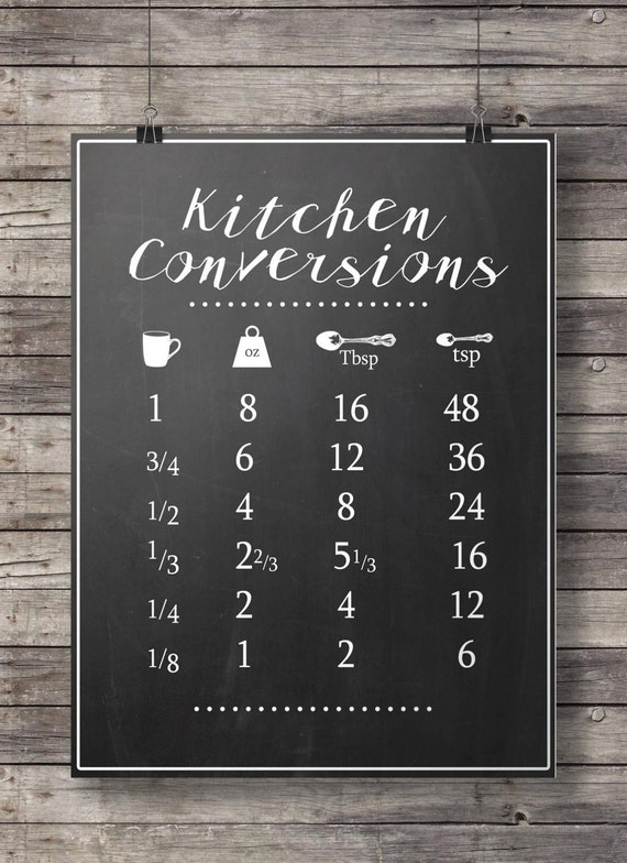 Kitchen Conversions Conversion Chart Printable Kitchen