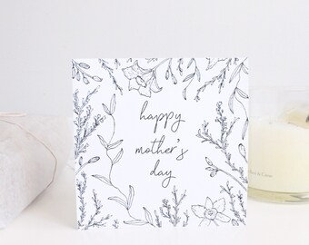 Mother's Day - Illustrated Foliage | Printable DIY Card