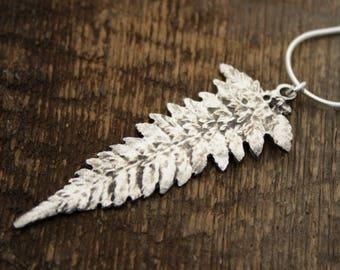 Fern Pendant, botanical jewellery, organic pendant, earth amulet, fern jewelry, forest pendant, woodland jewelry, tree of life, leaf jewelry