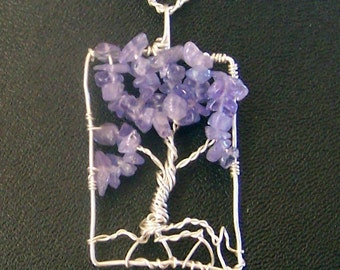 Tanzanite Tree of life pendant - Genuine Tanzanite Gemstone and Sterling Silver Tree of Life necklace