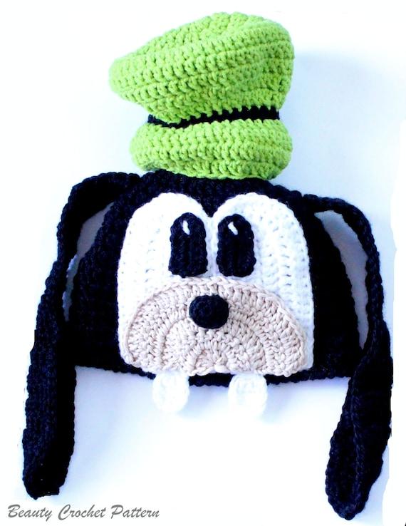 Crochet Pattern Goofy Hat Goofy Hat Newborn to Adult Hat
