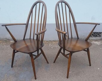 1960s Ercol Carver/Desk/Occasional Chair. Pair Available! Vintage/Retro/Mid Century