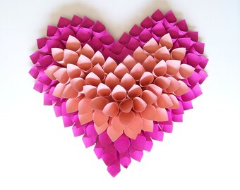 Wall decorative heart pink other colors possible wedding Valentine baptism