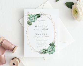 Wedding invitation template | Etsy