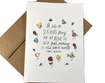 Serious Thing Greeting Card