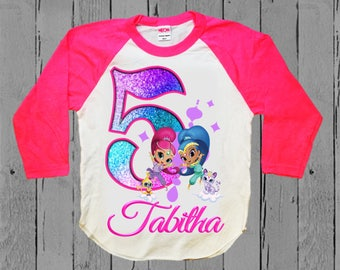 Shimmer and Shine Birthday Shirt - Shimmer and Shine Tank Top Available