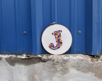 Personalized Embroidery Hoop Letter of Your Choice