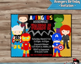 avengers birthday invitation templates free images template design