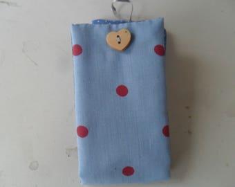 nécessaire couture pochette en tissu petit pois