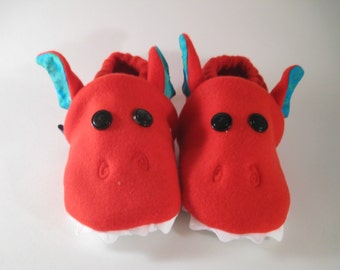 red dragons slippers