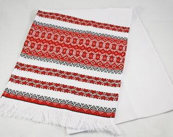 Embroidered towel Ukrainian rushnyk Machine embroidery Ukranian souvenir Ukrainian traditional textile