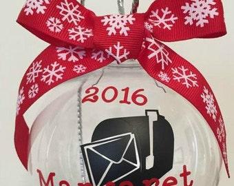 Mailman Gift, Mailman ornament,Mail Carrier Gift, Mailwoman ornament, Mailwoman gift, Letter carrier Gift Female, Letter carrier gift Male