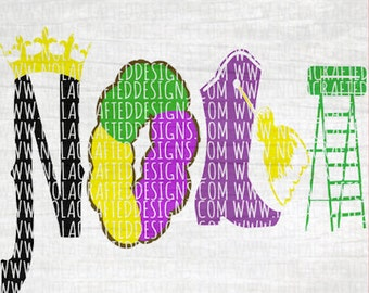 King Cake Svg Cut File Png - Mardi Gras Svg Cut File - Ladder Seat Svg Cut File - New Orleans Svg Cut File - Louisiana Svg Cut File