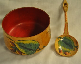 Antique Bowl and Engagement Spoon