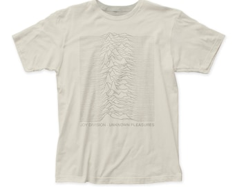Joy Division Tone On Tone Men's Soft Fitted 30/1 Cotton Tee (JD07) Vintage White