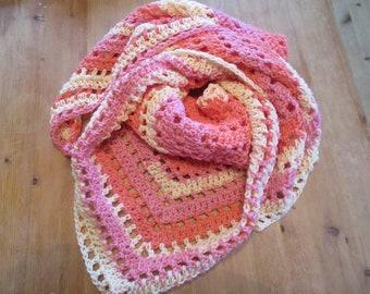 Crocheted Triangle Scarf/Shawl