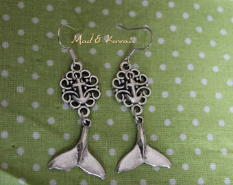 Mermaid tail earrings