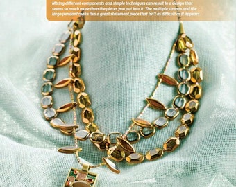 Wonderful Brass Windows Necklace Tutorial, Pendant, Window Beads, Hex cut Seed Beads