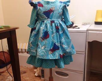 Georgia dress w/Pearl Pinafore