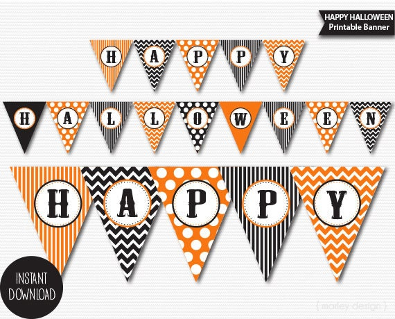 Halloween banner printable halloween decorations halloween - Printable halloween decorations ...