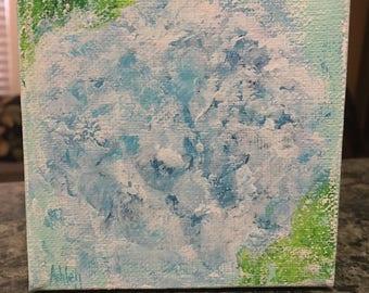 Abstract Mini Hydrangea Painting, impressionism floral, floral painting, hydrangeas