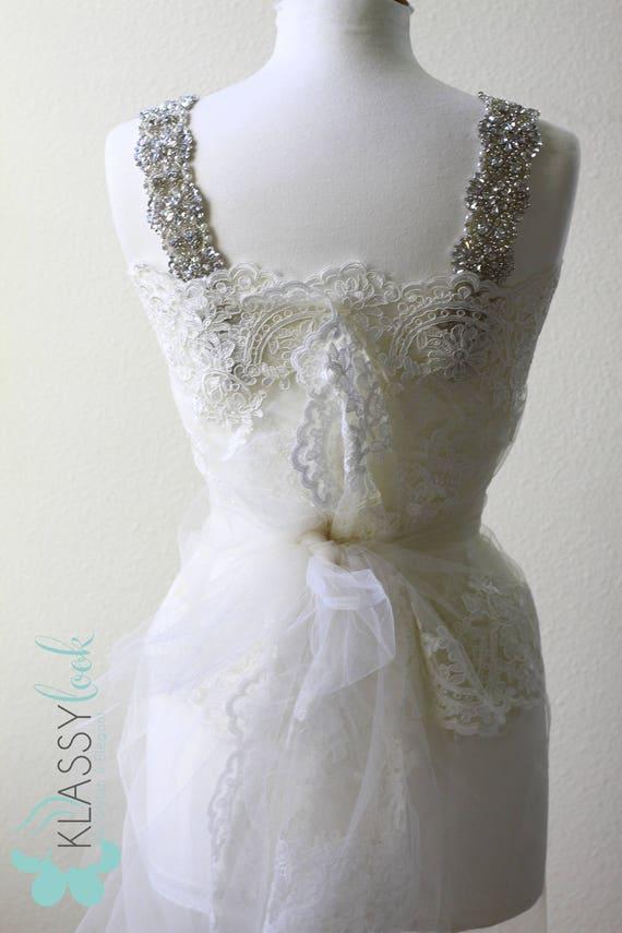 Crystal Rhinestone Bridal Dress Strap Luxury Strap Wedding