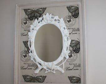 Charm in antique frame mirror